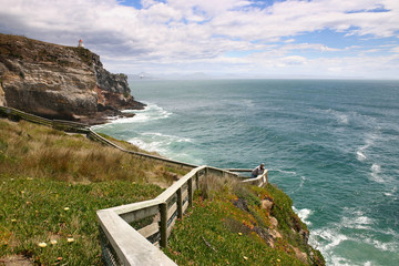 Cliffs on coastline, New Zealand