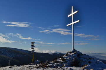 Great Fatra mountains in Slovakia - sunny day in early winter