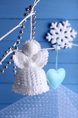 Knitted Christmas angel hanging