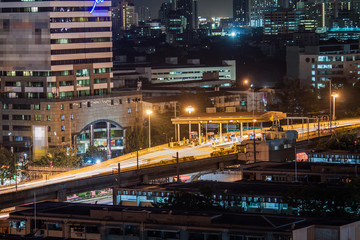 Night time of toll express way station