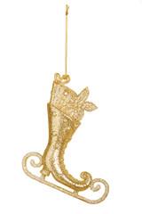 Christmas decoration: golden skate