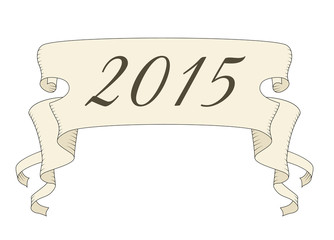 ribbon with 2015 year