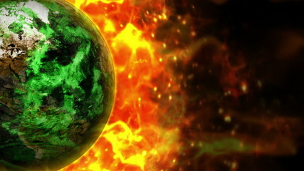 Fiery Earth Background