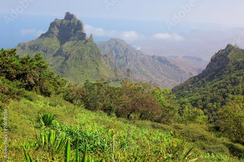 Hiking on island of Sao Nicolau, Cape Verde
