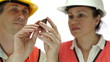 Miners Inspecting Copper Sulfide Ore