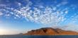 Panoramic view of Santa Luzia volcanic island, Cape Verde