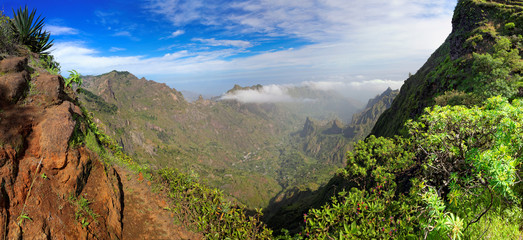 Panoramic view of island of Santo Antao, Cape Verde