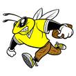 Obrazy na płótnie, fototapety, zdjęcia, fotoobrazy drukowane : Bee Football