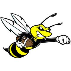 Bee Football Mascot