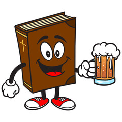 Bible Mascot with Beer