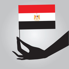 Hand with Egypt flag