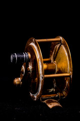 One Vintage Old Metal Fishing Reel