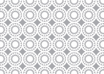 Grey Circle Kaleidoscope Pattern Background for Wallpaper