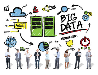 Diversity Business People  Big Data Digital Devices Concept