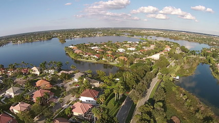 Aerial view of suburban homes in Florida