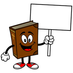 Bible School Mascot with Sign