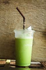 smoothies milk green tea latte