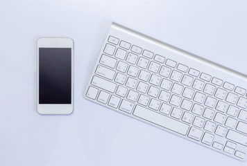 Mobile phone and computer keyboard