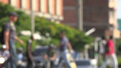 Pedestrians, Buildings, Traffic, Urban