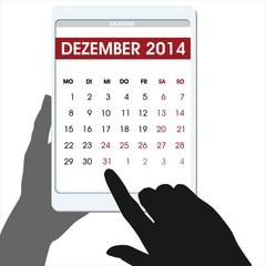 Silvester countdown Hände digitaler Table Kalender