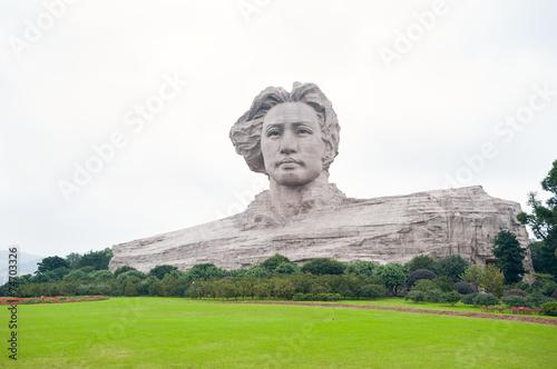 Leinwanddruck Bild Chairman Mao statue in Changsha, Hunan Province, China