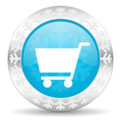 cart icon, christmas button, shop sign