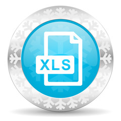 xls file icon, christmas button