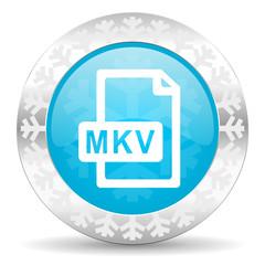 mkv file icon, christmas button