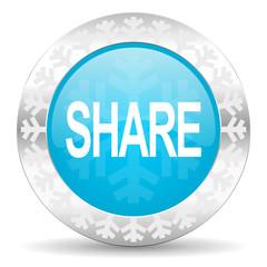 share icon, christmas button