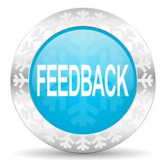 feedback icon, christmas button