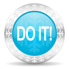 do it icon, christmas button