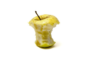 Stub of yellow apple