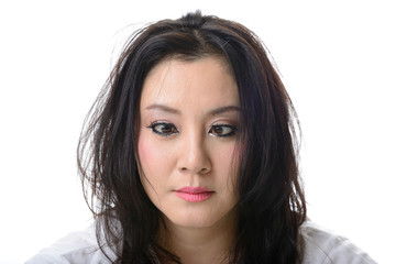 squint eyed crazy asian woman