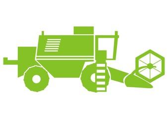 harvester, green silhouette