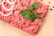 canvas print picture - fleisch essen