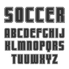 Sans serif font in sport style