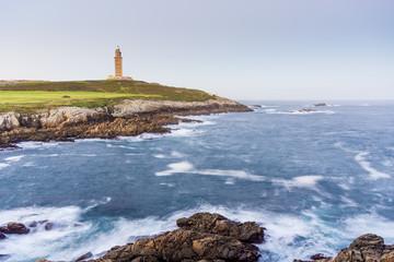 Tower of Hercules in A Coruna, Galicia, Spain.