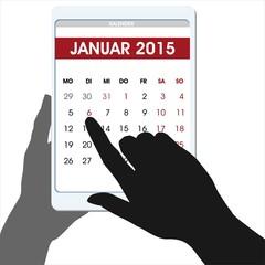 Heilige Drei Könige Hände digitaler Table-Kalender