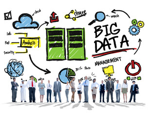 Diversity Business People Big Data Corporate Concept
