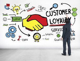 Customer Loyalty Business Concept