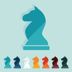 Flat design: chess