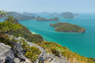 Archipelago at the Angthong National Marine Park in Thailand