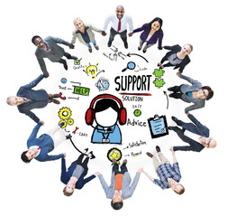 Support Solution Advice Help Care Satisfaction Concept
