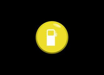 button gas pump logo vector icon