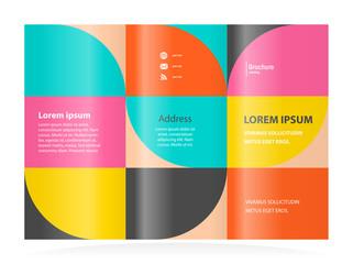 geometric abstract - brochure design template