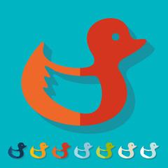 Flat design: duck