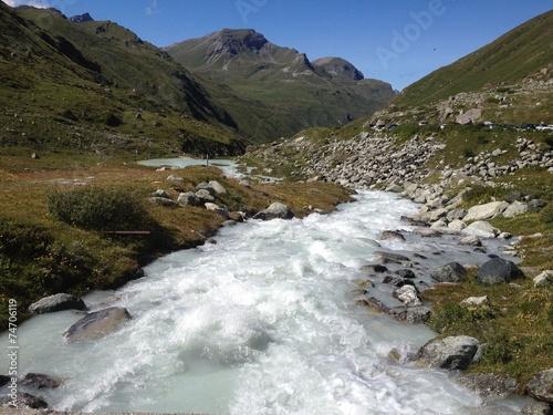 canvas print picture Alpen Gewässer