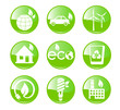 Green, Ecology and environment icon set