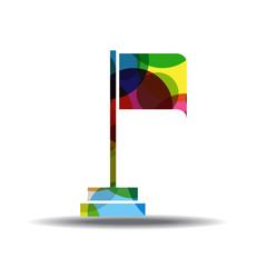 Flag Sign Colorful Vector Icon Design