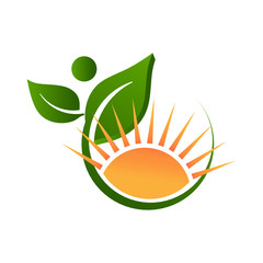 Nature and sunny life logo